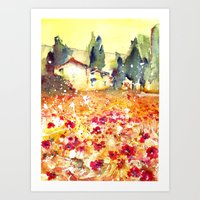 poppies Art Prints featuring Poppies by Michele Petri