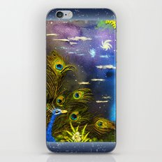 Peacock Night iPhone & iPod Skin