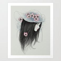 The Girl In The Garden Art Print