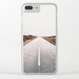 ROAD - HIGH WAY - LANDSCAPE - PHOTOGRAPHY - NATURE - ADVENTURE - SKY Clear iPhone Case