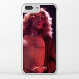 Robert Plant 1977 Clear iPhone Case