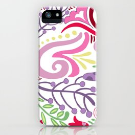 Spring Floral Paisley iPhone Case