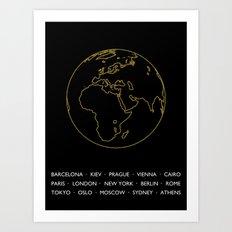 AROUND THE WORLD Art Print