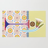 bread Area & Throw Rugs featuring Ancient Bread by Paco Dozier