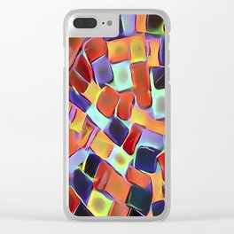 Colorful European Sidewalk Clear iPhone Case