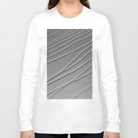 gray pattern Long Sleeve T-shirts featuring Relief - Gray by Rose Etiennette