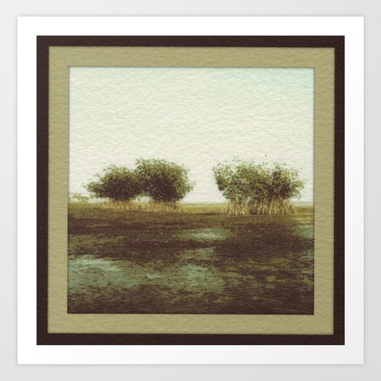 Mangrove Flats Art Print
