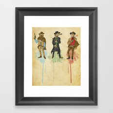 The Sloth, The Croco and The mole Rat Framed Art Print