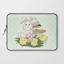 White Rabbit and Easter Friends Laptop Sleeve