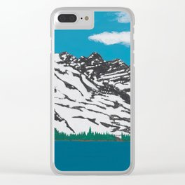Banff Lake View Clear iPhone Case