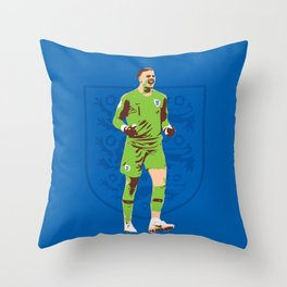 Jordan Pickford - Hand Picked Throw Pillow