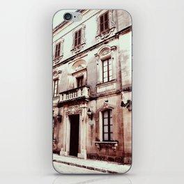 Building in Valletta-Sepia iPhone Skin