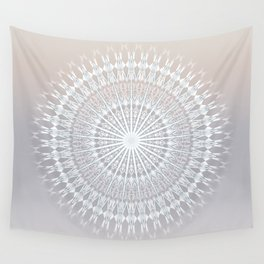 Beige Taupe Gradient Mandala Wall Tapestry