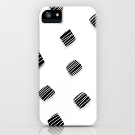 BLACK squares / minimal iPhone Case
