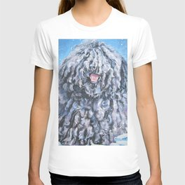 Puli dog art portrait from an original painting by L.A.Shepard T-shirt