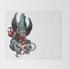 Gamer Skull -  Bermuda Grey Throw Blanket