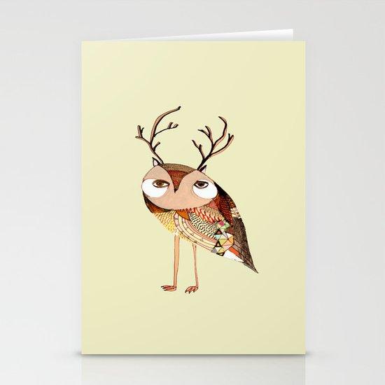 owl print, owl illustration, owl art, owl  Stationery Cards