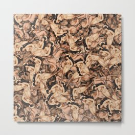 Nude Lady Ladies Funny Pattern Metal Print