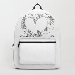 Wrapped in the arms of His love sketch Life of Christ Nativity to Resurrection Backpack