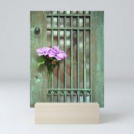 Door With Flowers Mini Art Print