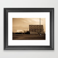Classic Drive-In Framed Art Print