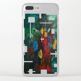 Cosmic Analysis No.2 Clear iPhone Case