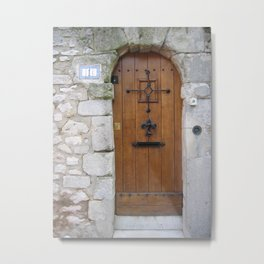 Door No. 4 in Senlis, France (2008) Metal Print
