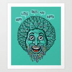 Happy Little Trees Are Happy  Art Print