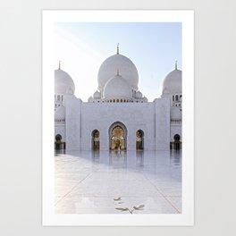 Grand Mosque Abu Dhabi Art Print