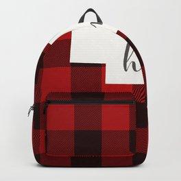 Nebraska is Home - Buffalo Check Plaid Backpack