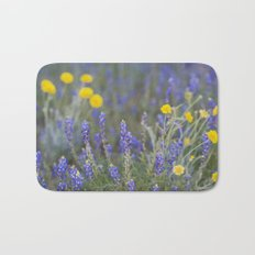 Blue and Yellow Wildflowers Bath Mat