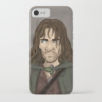 aragorn iPhone & iPod Cases featuring Aragorn by quietsnooze