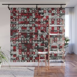 Paradox Network (P/D3 Glitch Collage Studies) Wall Mural