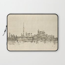 Toronto Canada Skyline Sheet Music Cityscape Laptop Sleeve