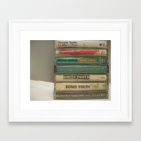 sonic youth Framed Art Prints featuring Sonic youth tapes by mijofeo