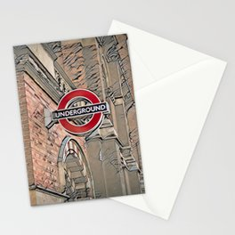 London Underground, St Pancras Tube Station, LONDON Stationery Cards