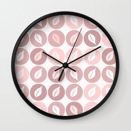 Pinkish leaves Wall Clock