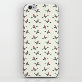 Pink Flamingo watercolor pattern beige iPhone Skin