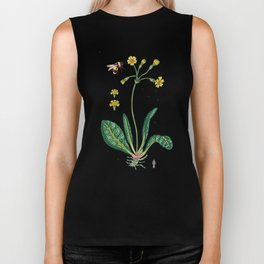 yellow cowslip and bee Biker Tank
