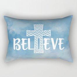 Believe Bible Quote Rectangular Pillow