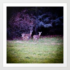 The Dear Deer Family Art Print
