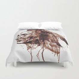Indian Warrior Sepia Tones Duvet Cover