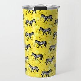 African Zebras – Animal Illustration Travel Mug