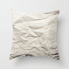 Crumpled Paper Throw Pillow