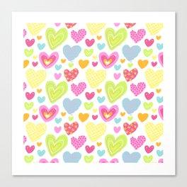 spring hearts Canvas Print