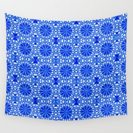 Sapphire Blue Star Wall Tapestry