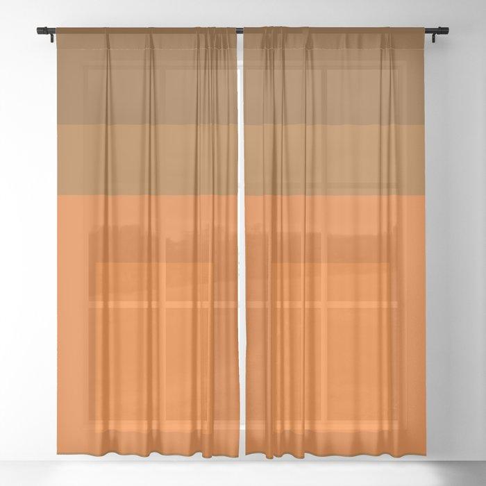 Block Colors - Orange Sheer Curtain
