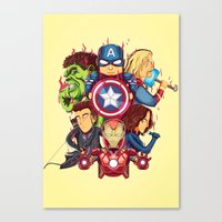 avenger Canvas Prints featuring The Avenger by rendhy wahyu