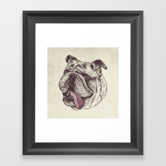 Bulldog King Framed Art Print