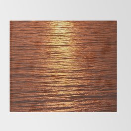 copper sea Throw Blanket